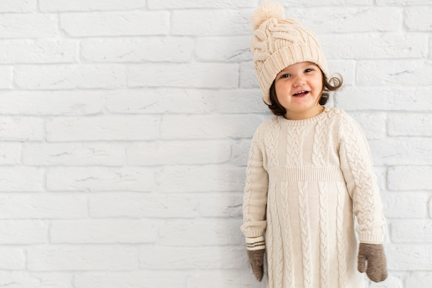 Adorable little girl winter dressed