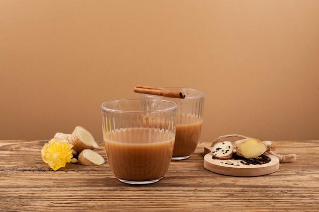 Adrak chai - traditional indian tea.