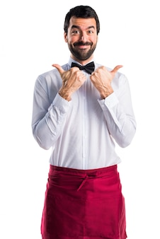 Adult expression bow tie beard