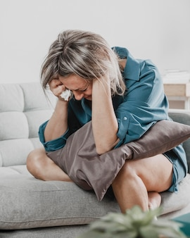 Adult woman with mental health issues