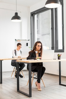 Adult women working at the office