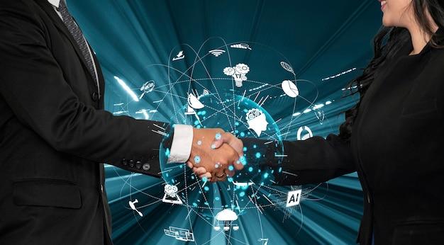 Передовая связь и подключение к глобальной сети интернет в умном городе
