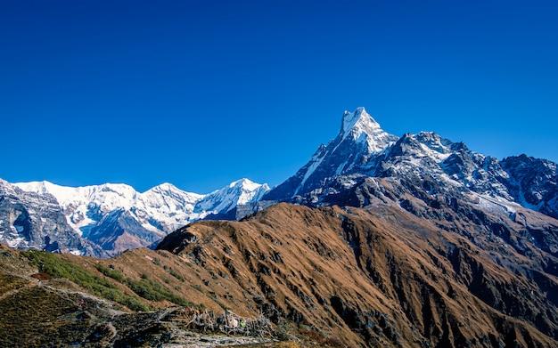 Advanture mountain fishtail at mardi, kaski, nepal.