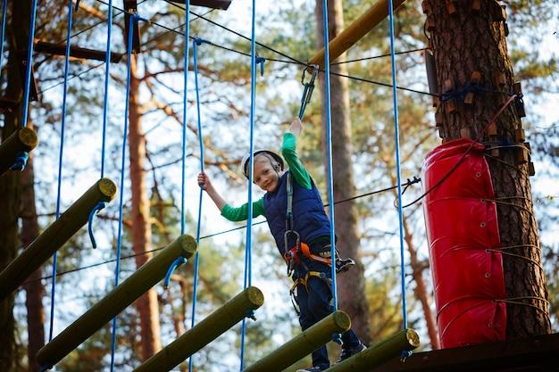 Adventure climbing high wire park