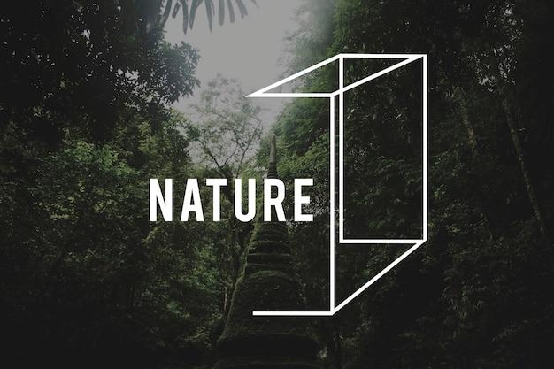 冒険旅行自然の目的地探検
