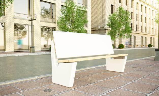 Advertisement bench