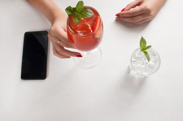 Advertisement e-commerce marketing phone healthy lifestyle concept