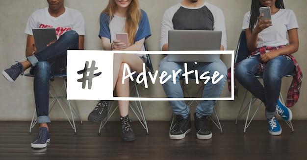 Pubblicità advetise icona di pubblicità dei consumatori
