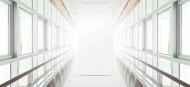 Рекламный баннер в светящемся коридоре