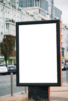 Advertising panel on city street