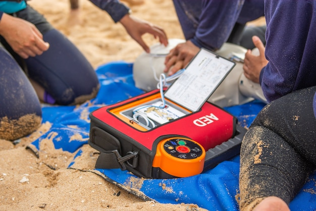 Aed in victim drowning
