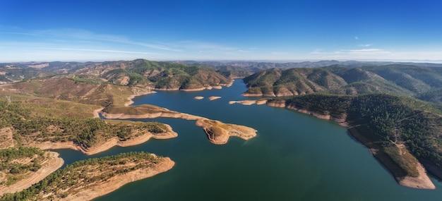 Aerial. аэрофотографическая панорама плотины в моншике-оделука.