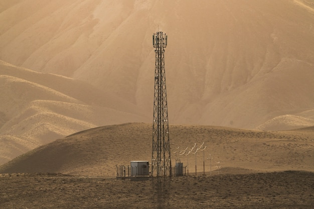 Aerial of cellular communication in the mountain area