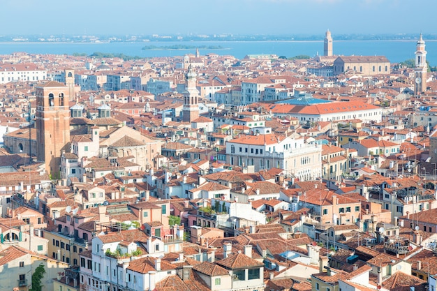 Aerial city view of venice