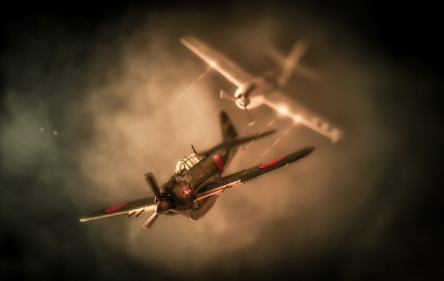 Aerial combat based on attack