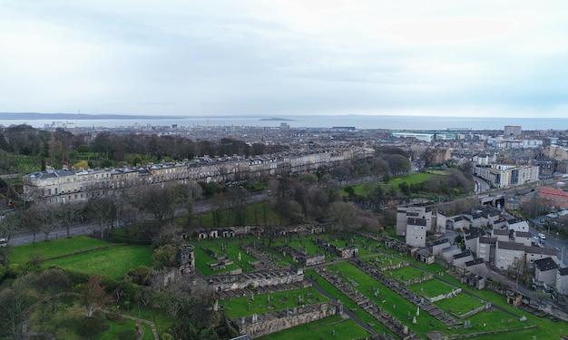 Aerial edinburgh cementery