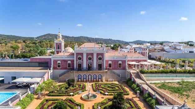 Aerial. estoi palace and garden algarve, portugal, faro