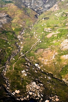 Aerial landscape of cyprus
