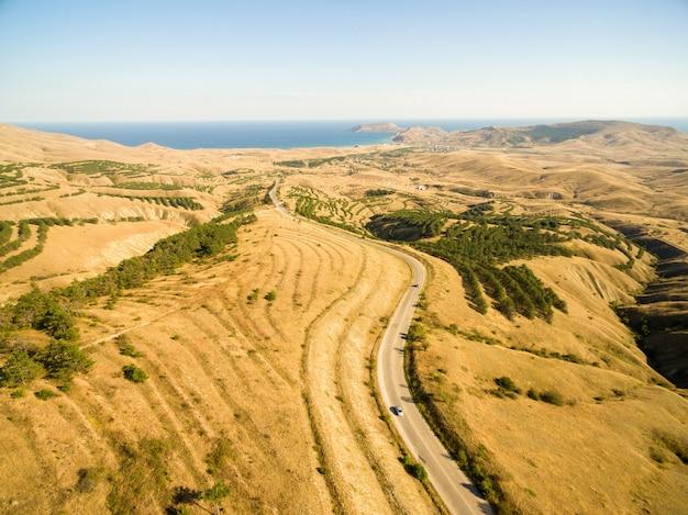 Воздушный пейзаж в крыму