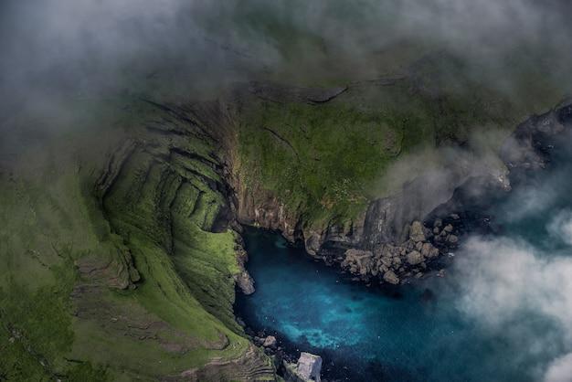 アイスランドの空中風景