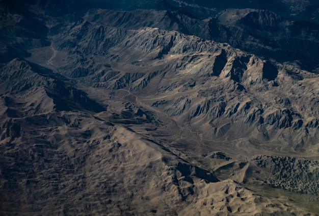 Aerial landscape of taurus mountains