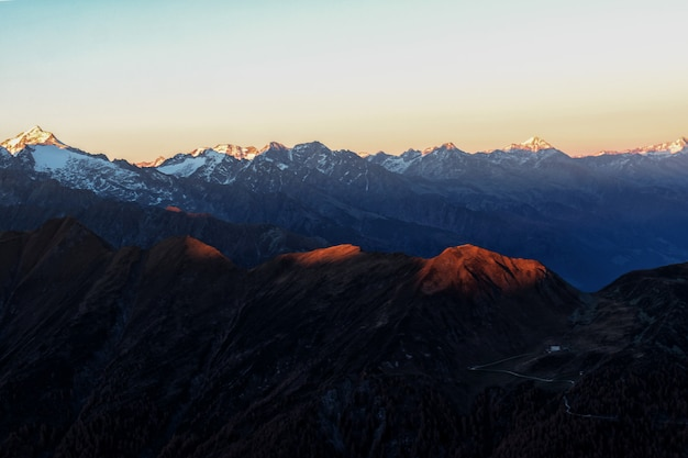 Aerial of mountains