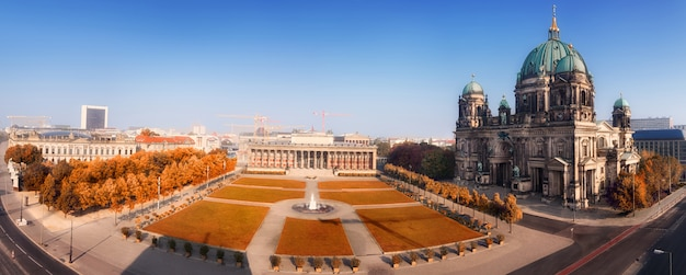 Aerial panorama of central berlin