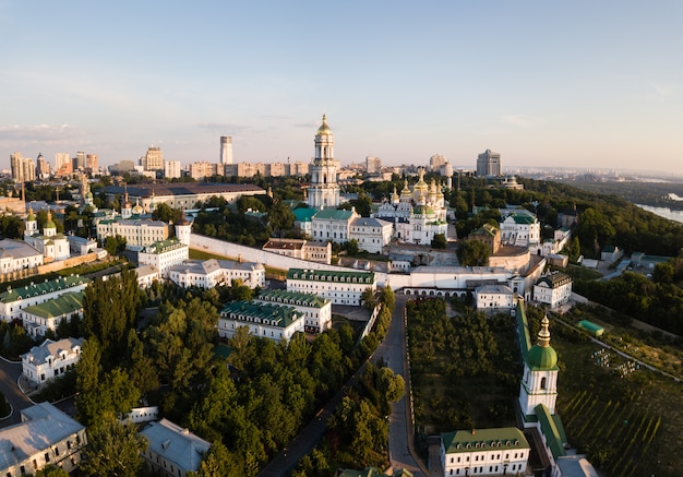 Aerial panoramic view of kiev