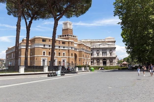 여름에 로마의 항공 파노라마보기