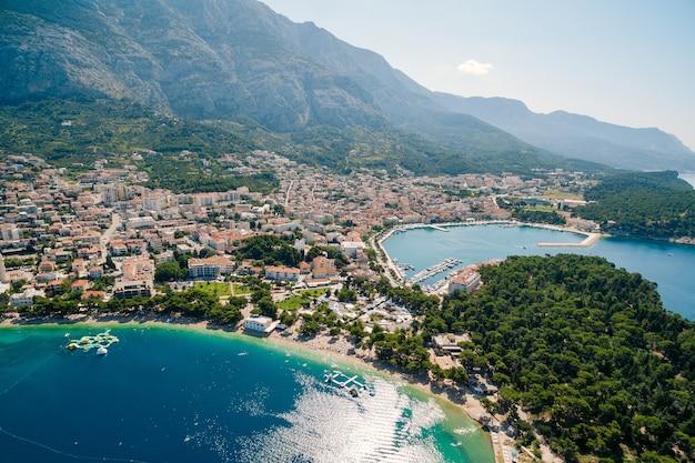 Аэрофотоснимок дрон макарска хорватия