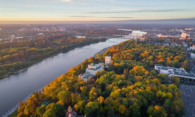 ベラルーシのホメリ宮殿の航空写真