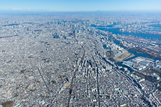 Aerial photo of tokyo city