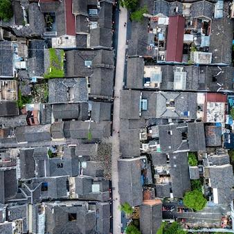 Aerial photography of ancient buildings in downtown xuzhou, jiangsu