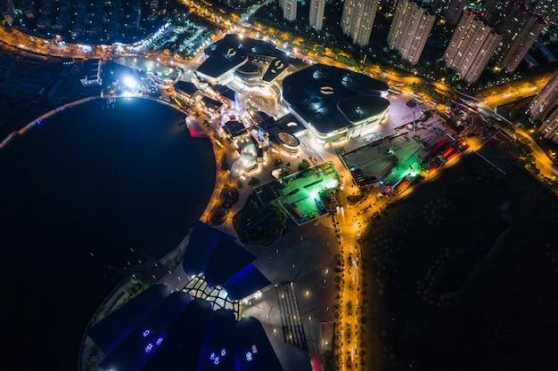 항공 사진 중국 도시