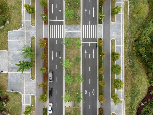 Aerial photography of city roads