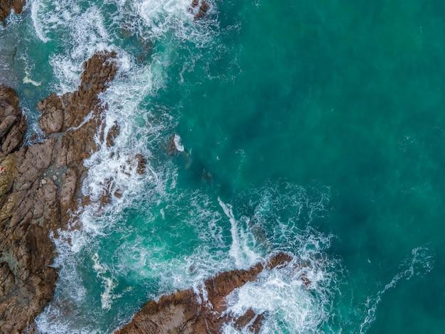 Aerial photography of coastline reef
