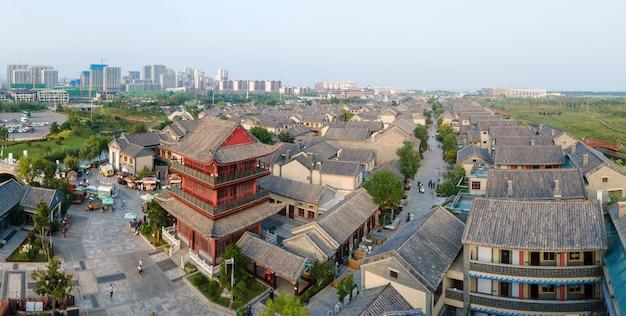 中国、日照市、トンイタウンの航空写真