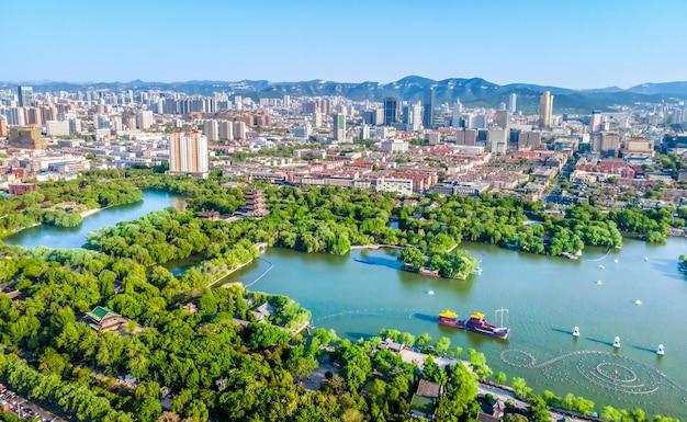 Jinan daming lakeparkの航空写真