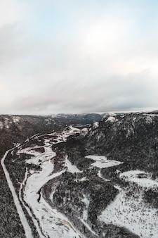 山の空中写真