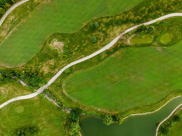青島海岸線ゴルフコースの航空写真
