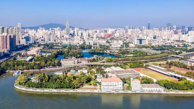 Аэрофотосъемка архитектурного ландшафта современных китайских городов