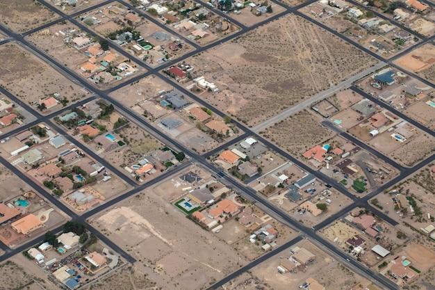 Аэрофотосъемка города в дневное время