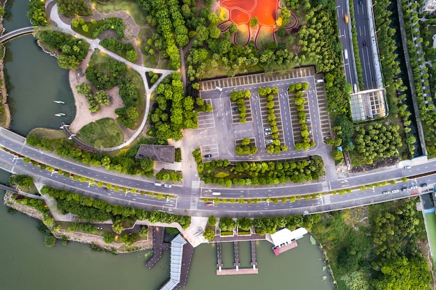 Aerial photography park