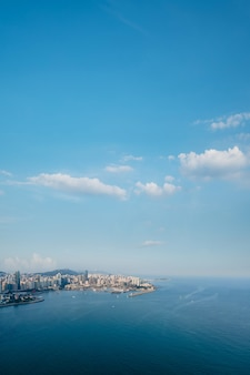 Aerial photography of qingdao fushan bay architectural landscape skyline