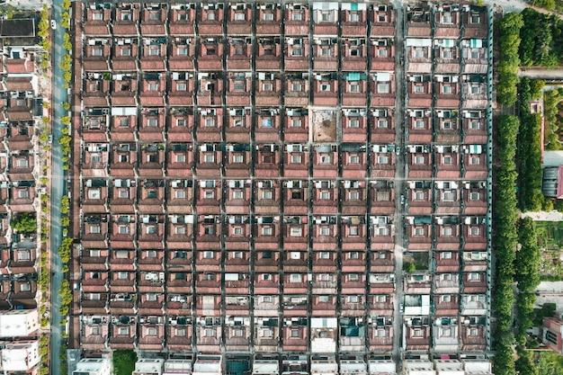 Foto aeree della città antica nel distretto di chaoyang, città di shantou, cina