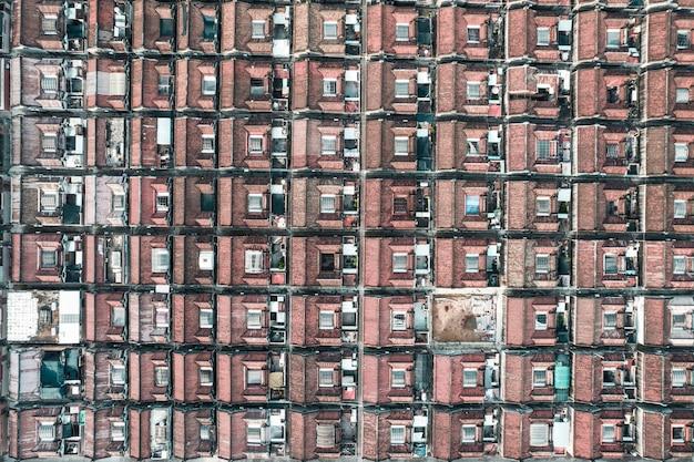 中国汕頭市潮陽区の古代の町の航空写真