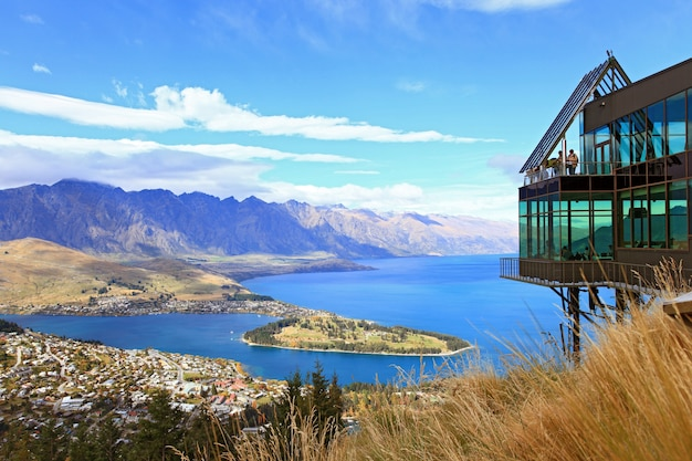 Aerial queenstown new zealand