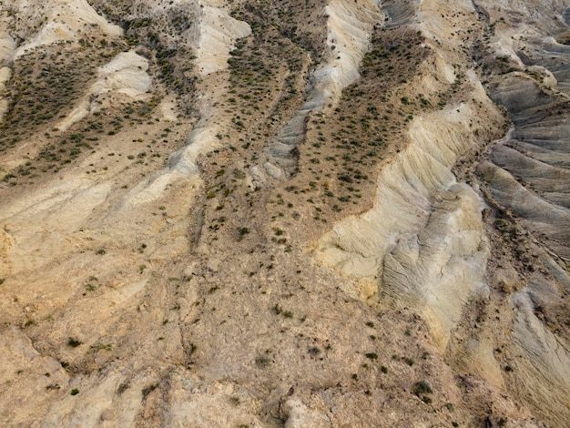 Aerial scenery view of mountains