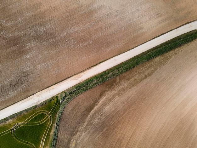 Vista aerea del paesaggio della natura
