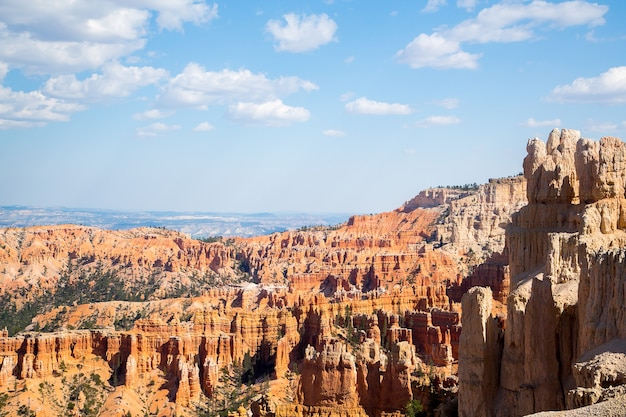 Aerial shot of the beautiful  bryce canyon national park in utah, usa